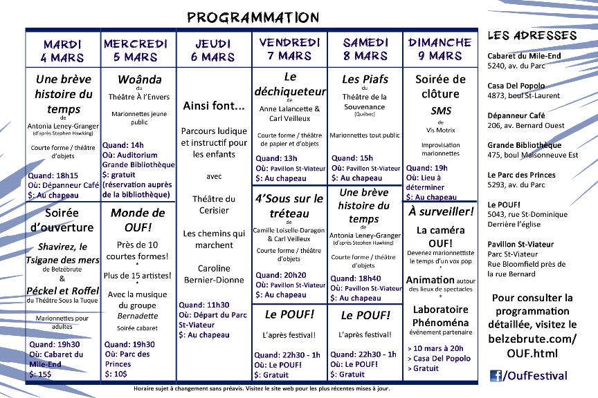 programmation 2014