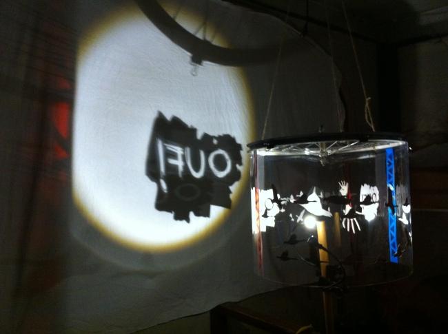 Installation lumineuse de Noé Cropsal - Tour - mars 2016